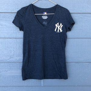 "Yankees ""Great Catch"" v-neck tee"